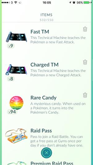 Pokémon Go Moves - how to get a second charge move, Fast TMs