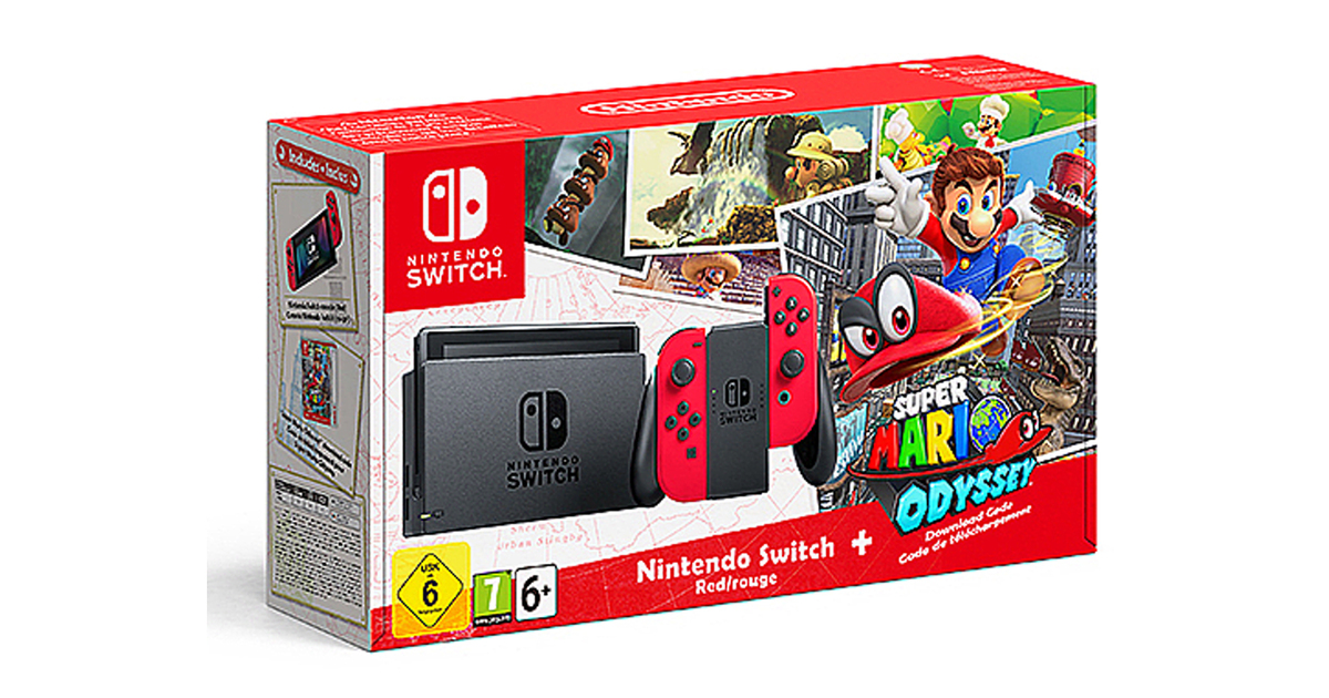 jelly deals nintendo switch mario console reduced to 275. Black Bedroom Furniture Sets. Home Design Ideas