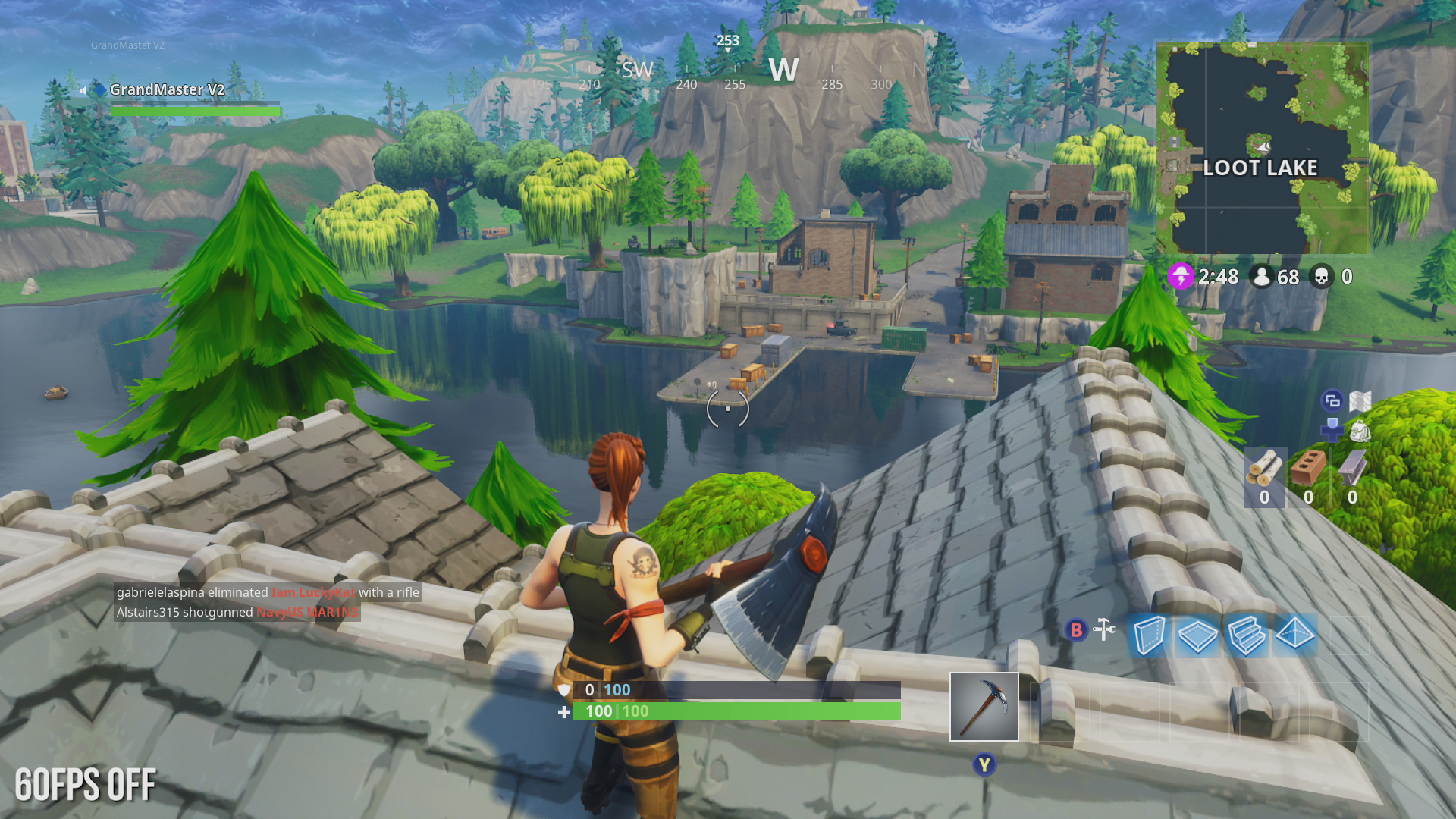 xbox one 60fps on xbox one 60fps off - loot runs fortnite