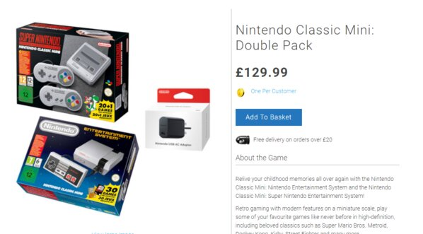NES Classic and SNES Classic bundle for £130 available now
