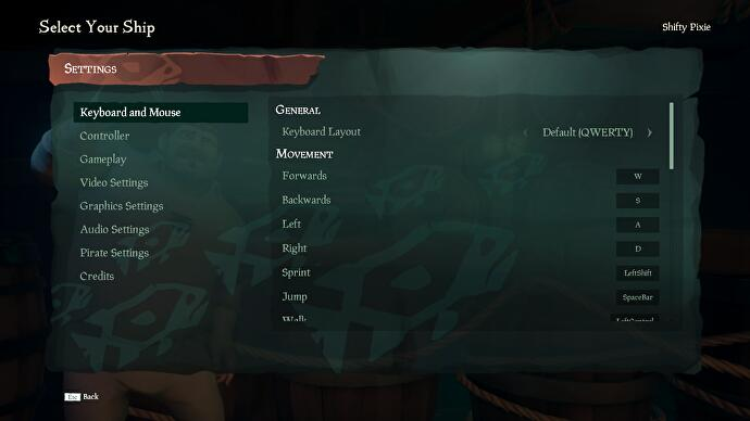 Sea of Thieves controls - Xbox and PC control schemes for gamepad