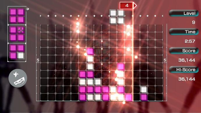 Lumines Remastered will turn your Switch JoyCons into trancevibrators