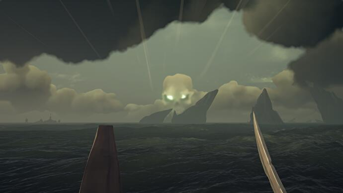 Sea of Thieves Skeleton Forts - Skull Clouds, Stronghold