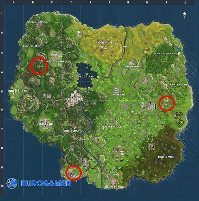 fortnite dance floor locations how to complete dance on different