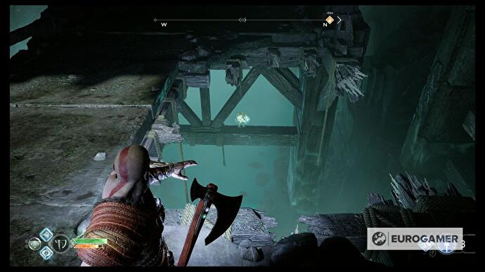 God of War - Inside the Mountain puzzle, Ascend the Mountain