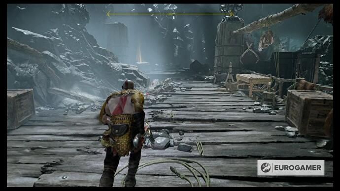 God of War - Heart of the Mountain puzzle, Ascend the Cave Shaft and