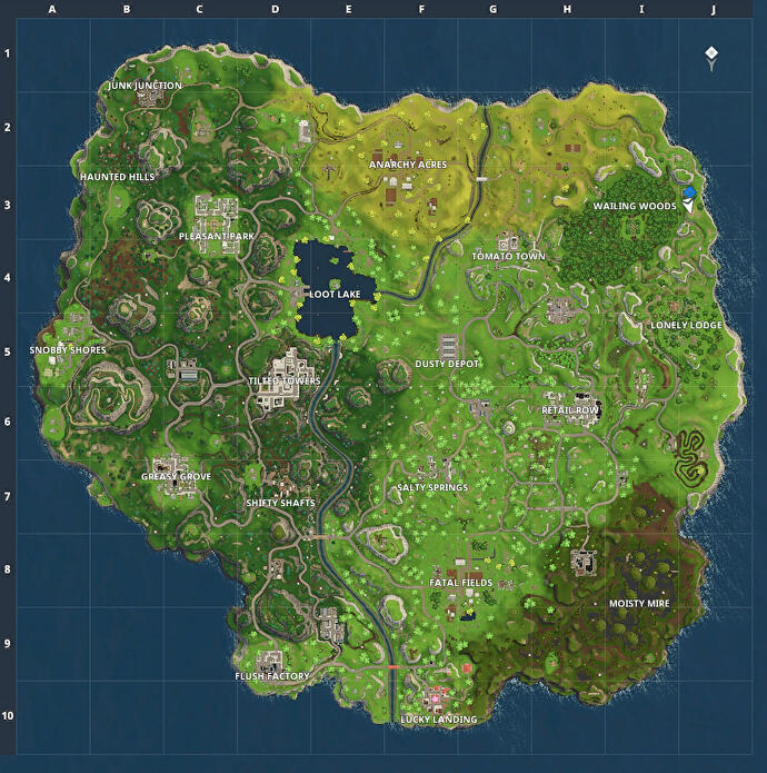 fortnite s old map - fortnite king of the hill map