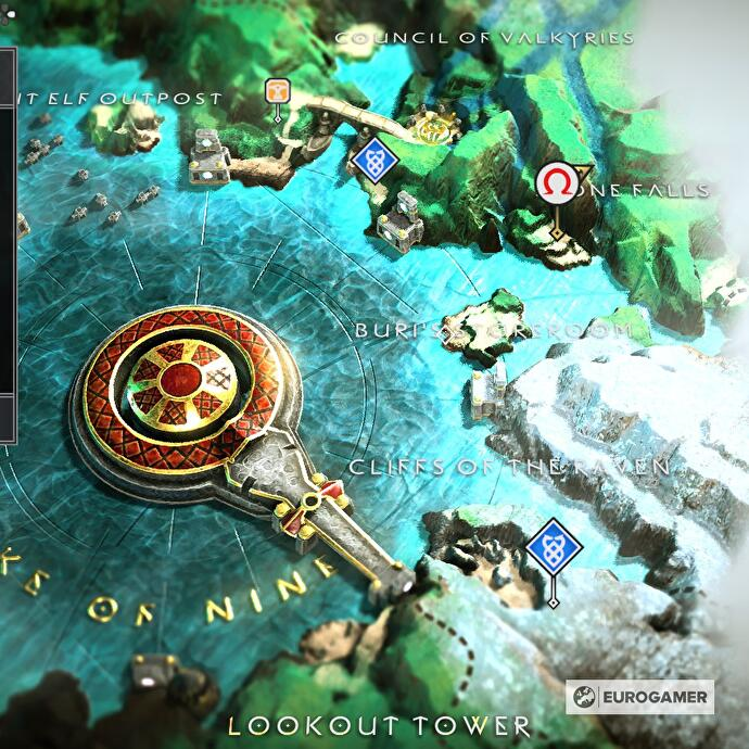 God of War Treasure Map locations - Where to find Don't Blink, Kneel