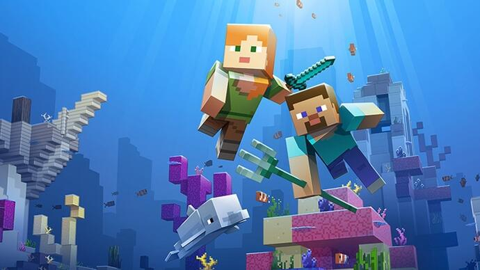 Minecraft's ocean-expanding Update Aquatic is out now on Xbox One and PC