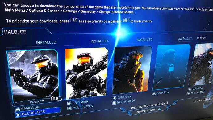 New Halo: The Master Chief Collection update lets you download and install the bits you want