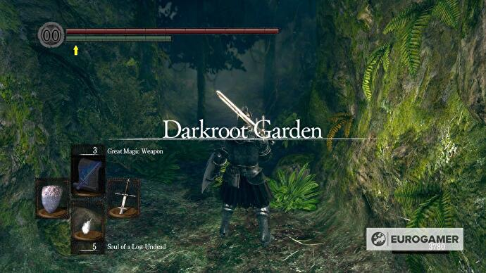 Dark Souls - Darkroot Garden strategy • Eurogamer.net on firelink shrine map, dark souls world map, dark souls 2 map, dark gate map, crystal cave map, dark souls lost izalith map,