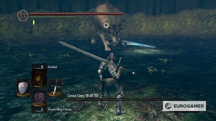 Dark Souls - Great Grey Wolf Sif boss strategy • Eurogamer net