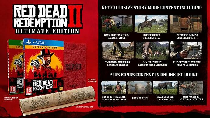Red Dead Redemption 2 pre-order bonuses include GTA cash and