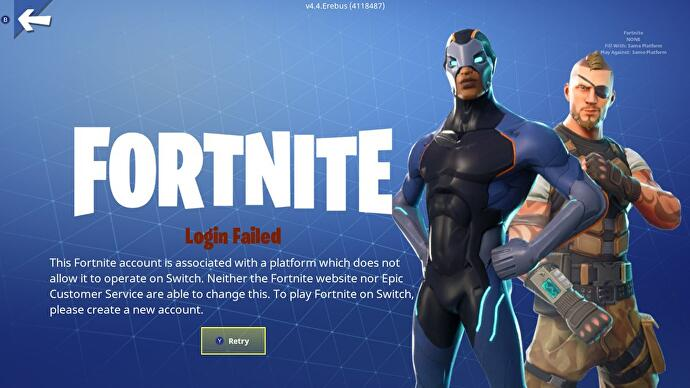 The PlayStation 4 Fortnite account curse is not