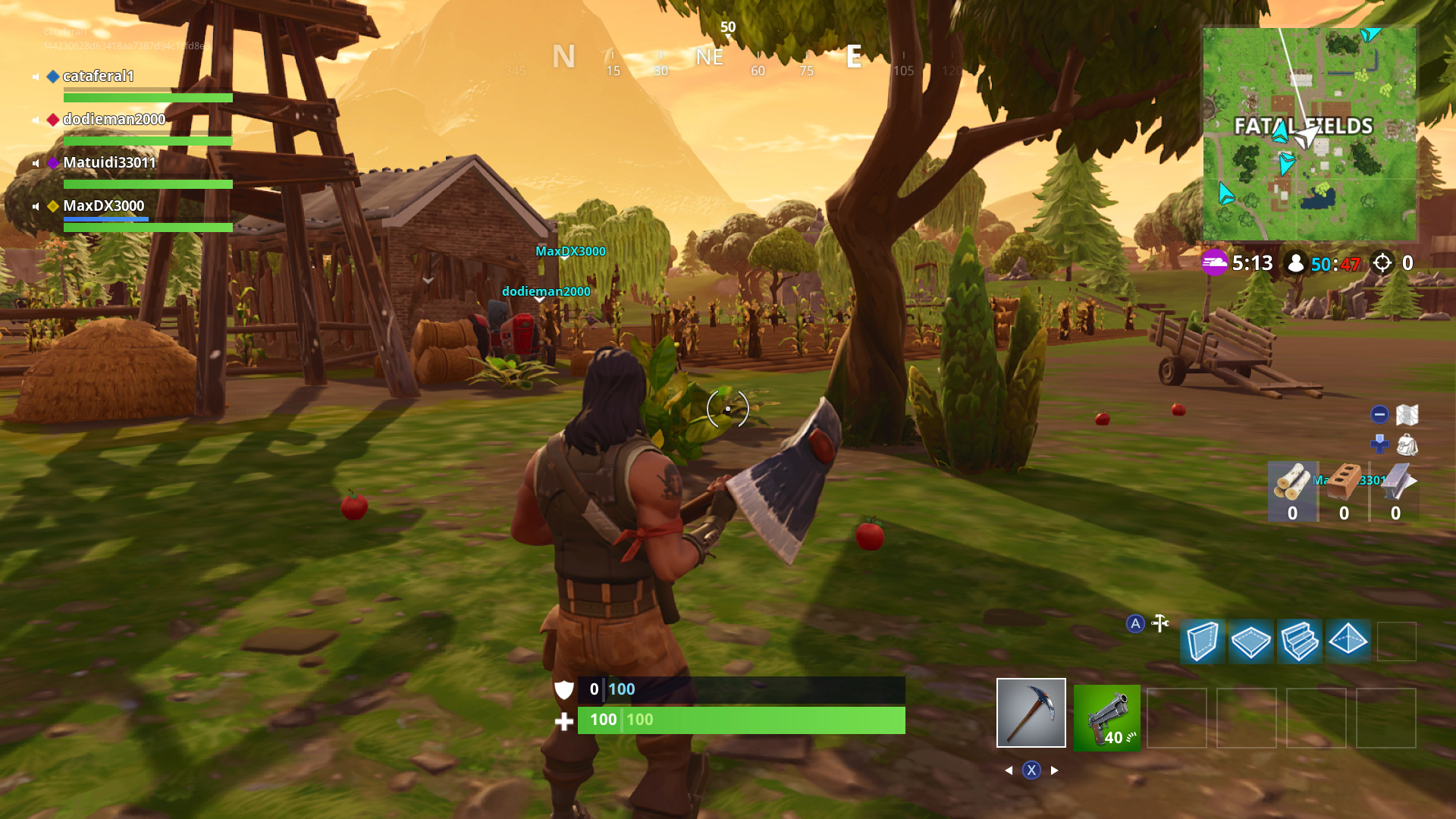 foliage draw distances and texture filtering also see a drop in quality meaning more pop in but on switch s smaller screen it s hard to notice - 50 vs 50 fortnite xbox