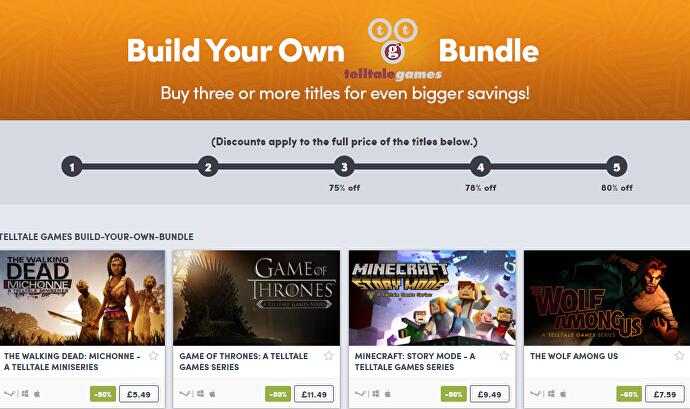 Create your own Telltale game bundle in the Humble Store