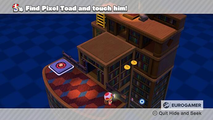 Captain Toad Pixel Toad locations - every Pixel Toad in Episode 1, 2