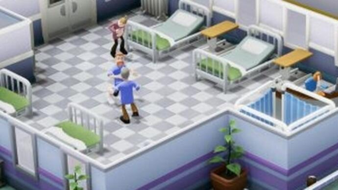 Two Point Hospital books in a release date