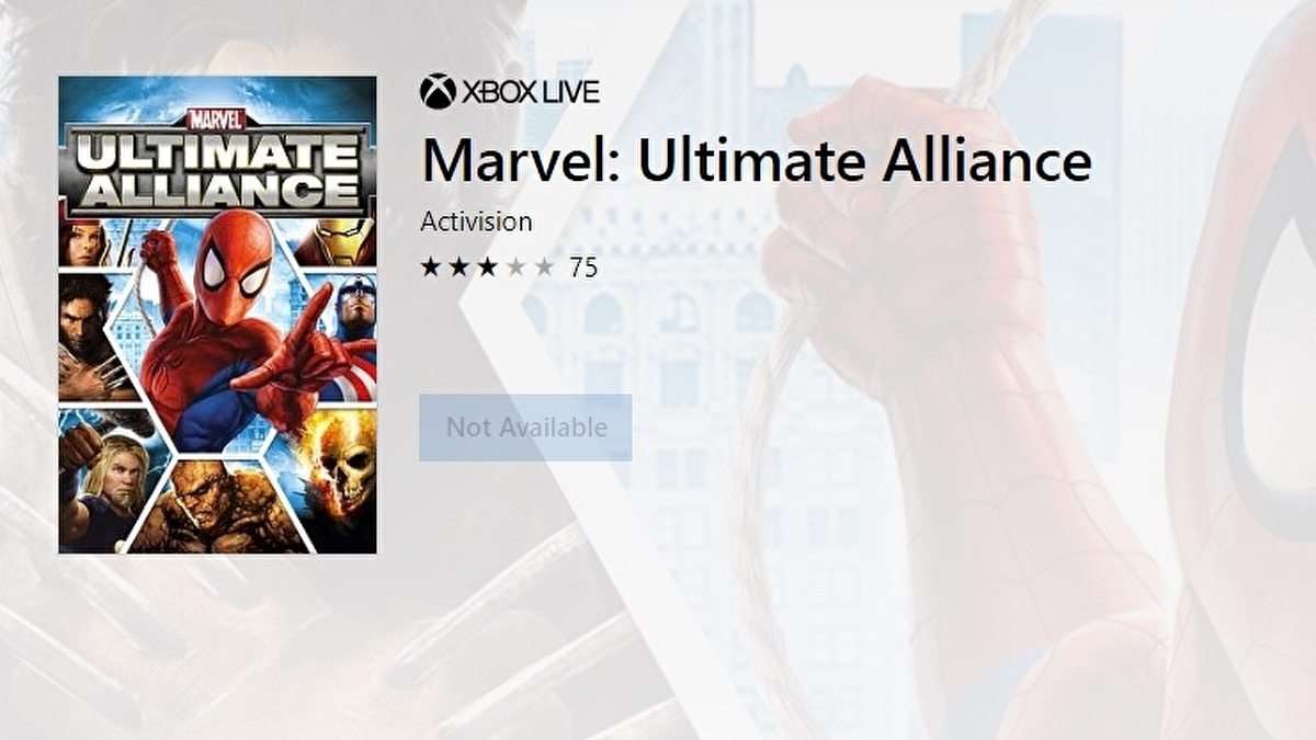 Marvel Ultimate Alliance games snapped out of digital