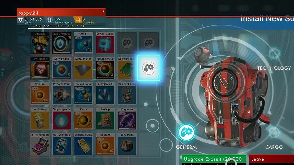 No Man's Sky inventory space - how to increase ship