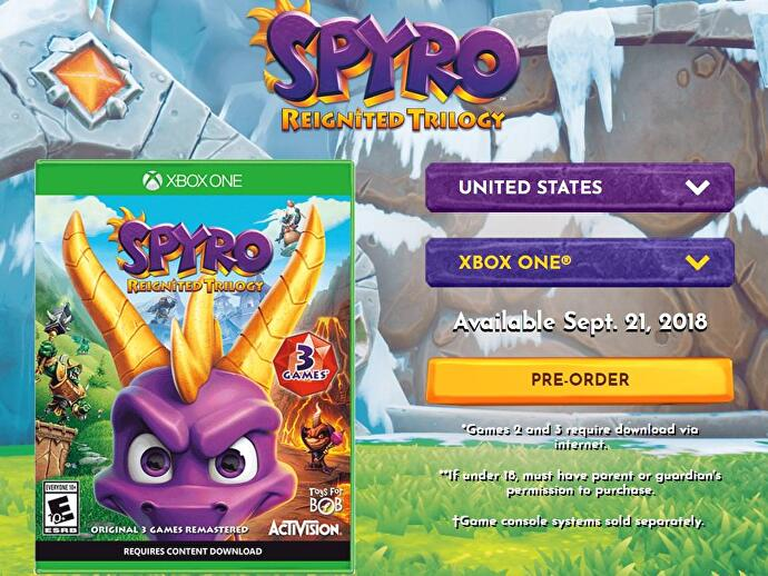 Spyro Reignited Trilogy physical edition requires download