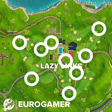 How Do I Hi A Golf Ball Far In Fortnite Fortnite Golf Tee To Green Locations Where To Hit A Golf Ball From Tee To Green On Different Holes Eurogamer Net