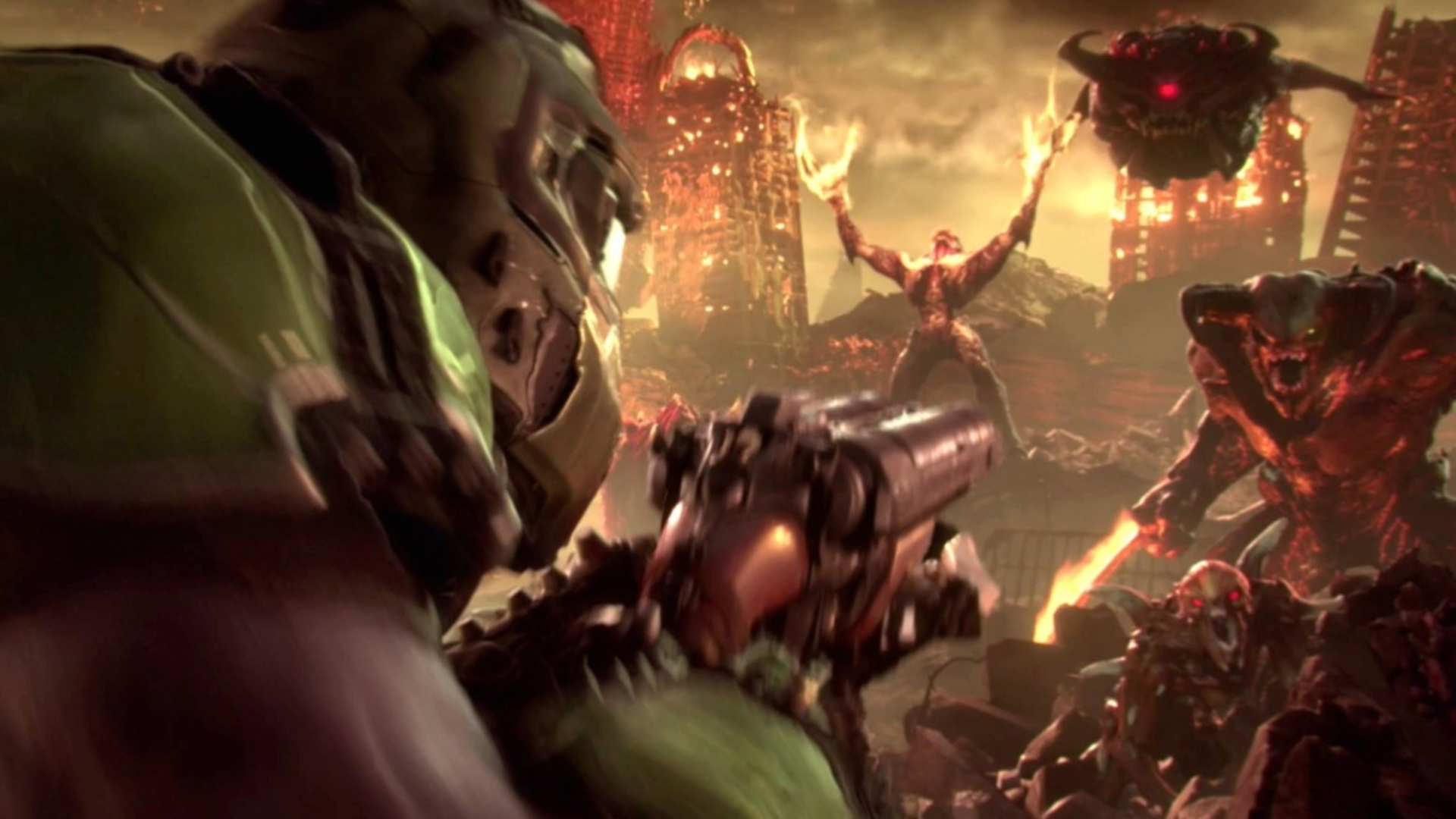Bethesda Reveals First Breathless Blood Drenched Gameplay Footage Of Doom Eternal O Eurogamer