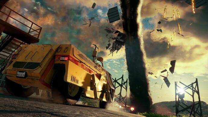 Just Cause 4's latest gameplay video shows off chaotic tornadoaction