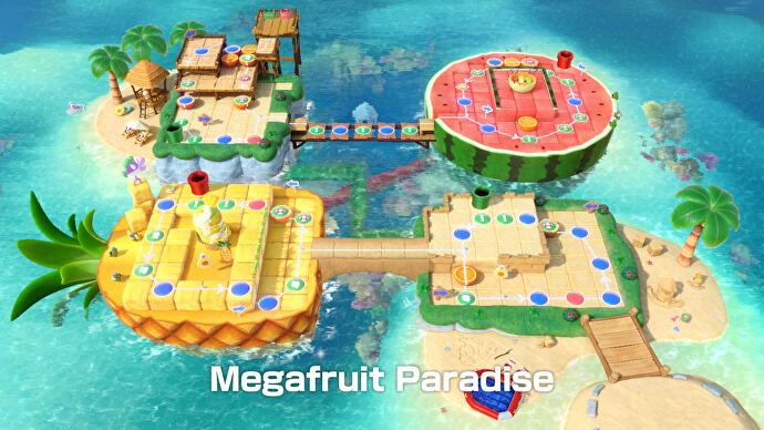 Super Mario Party's use of two Switch screens is a