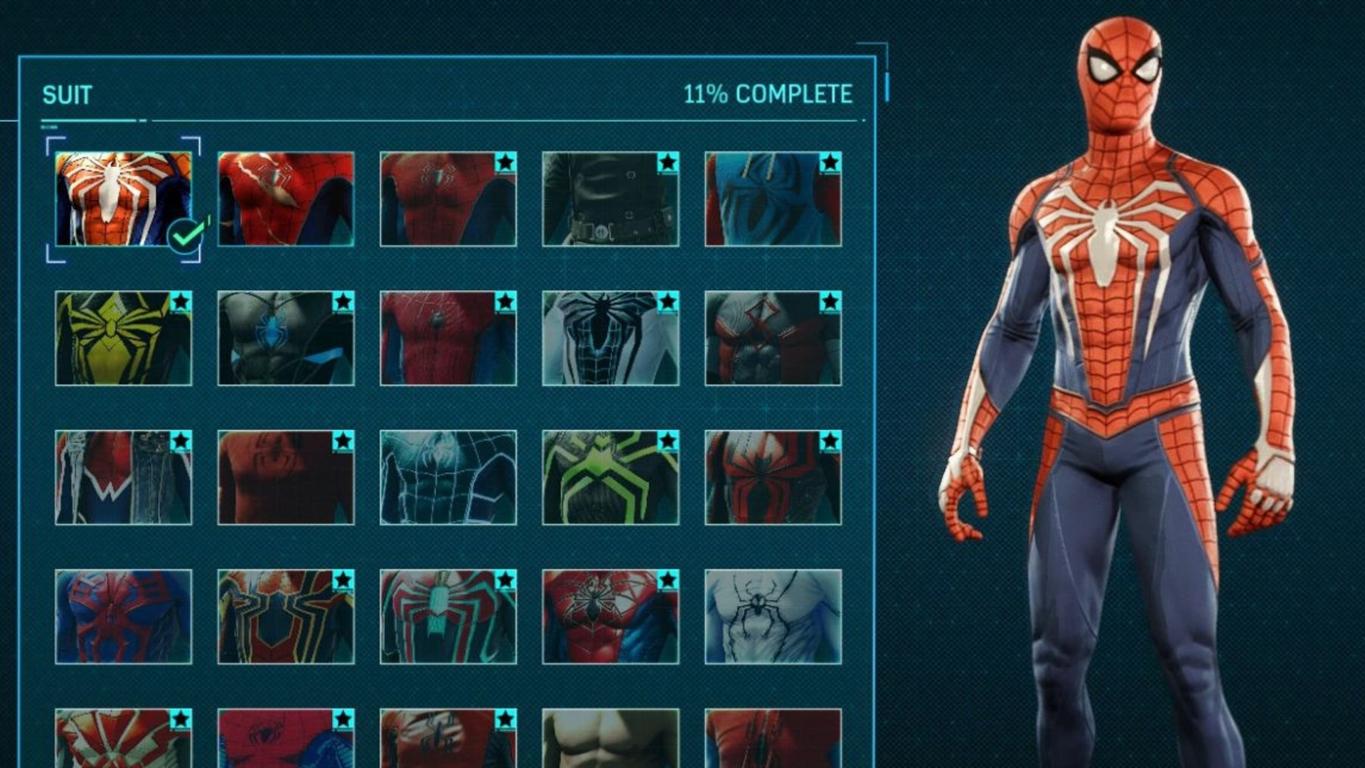 spider-man suit unlock list and costs - how to get every spider-man