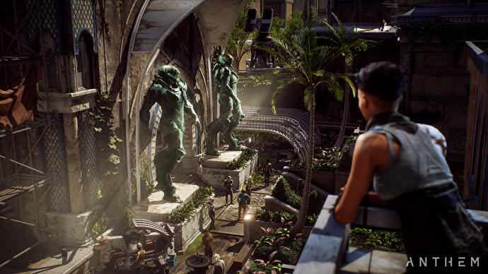 how anthem puts a single player story in a multiplayer game
