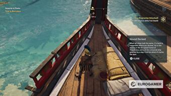 Assassin's Creed Odyssey - Hound Docked, Happy Hour riddle
