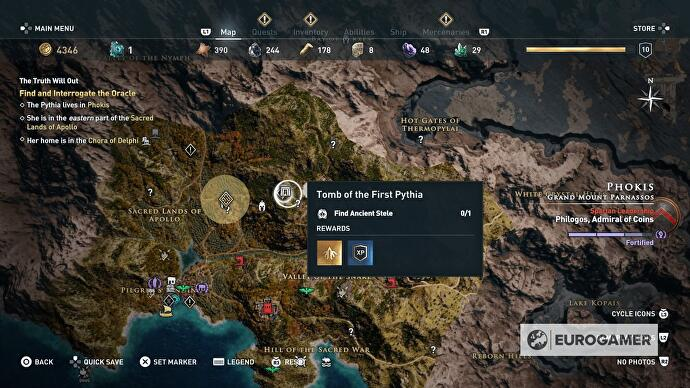 Assassin S Creed Odyssey Tomb Locations Ancient Steles