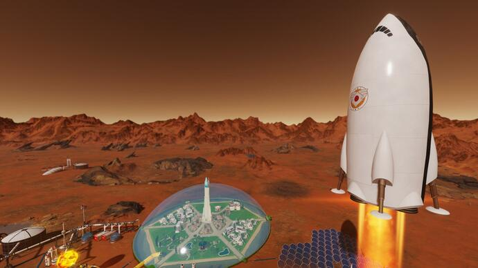 Colony sim Surviving Mars' new Space Race expansion is all about competition