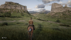 Red Dead Redemption 2 features a new temporal anti-aliasing technique which does a tremendous job cleaning up distant shimmering especially at higher resolutions. Detail is visible far into the distance while near-field foliage appears clean and sharp.