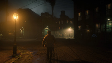 The unified volumetric fog system is used throughout the game to great effect. At night, fog volumes are used in conjunction within dynamic lights across Saint Denis under certain weather conditions and it looks fantastic.