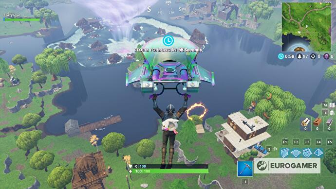 Fortnite Flaming Hoop Locations Jumping With A Shopping Cart Or Atk