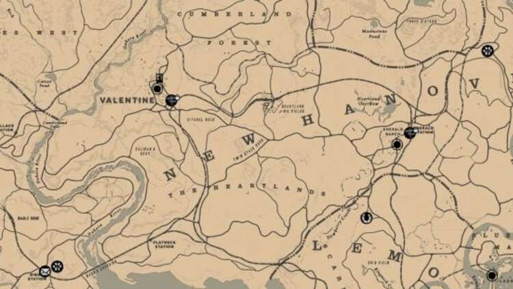 Rdr2 Karte Pdf.Red Dead Redemption 2 Map De Volledige Map In Overzicht
