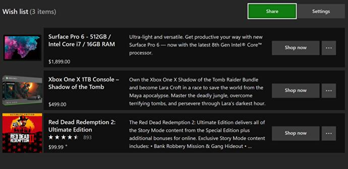 Wish List feature finally available for all on the Microsoft Store
