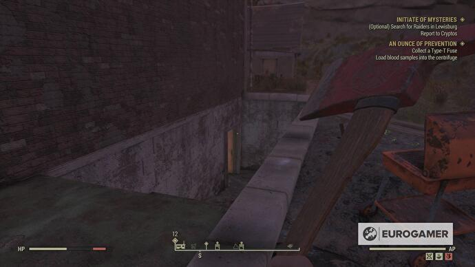 Fallout 76 Type-T Fuse location and where to find Gregs Mine