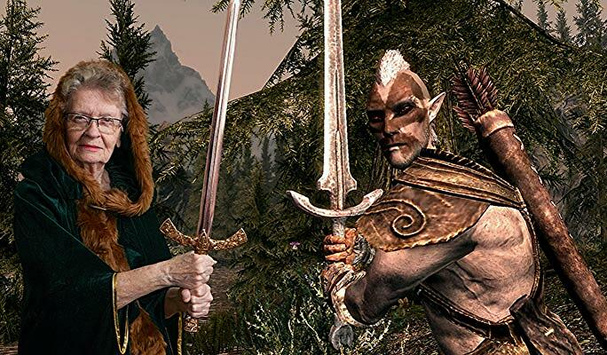 Fans campaign for Skyrim-playing grandmother to be immortalised in