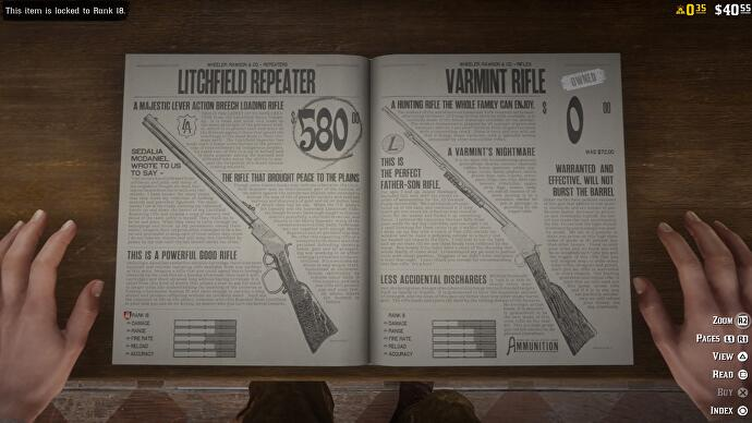 "2 ""data-uri ="" 2018 / articles / 2018-11-28-11-52 / Red_Dead_Redemption_2_20181128003111.jpg ""/>        <figcaption>The weapons seem not to be available in the premium economy, at least for the moment.</figcaption></figure> <p>That the micro-transactions play an important role in Red Dead Online is inevitable, although, following the success of Grand Theft Auto Online and its Shark Cards – ""the gift that continues to give"", as Strauss Zelnick said, CEO of Take Two, fashionable. Will they effectively play the win-win game and encourage extravagant spending? As microtransactions are not yet activated and the key features of Red Dead Online are still missing during its beta phase, it is simply too early to say. </p> </div> <p><script> 				window.fbAsyncInit = function () { 					FB.init({ 						appId: '156247124404264', 						version: 'v2.7', 						channelUrl: '/channel.html', 						status: true, 						cookie: true, 						xfbml: true, 						oauth: true 					}); 				};</p> <p>				// Load the SDK Asynchronously 				(function (d) { 					var js, id = 'facebook-jssdk', ref = d.getElementsByTagName('script')[0]; 					if (d.getElementById(id)) { 						return; 					} 					js = d.createElement('script'); 					js.id = id; 					js.async = true;</p> <p>										js.src ="