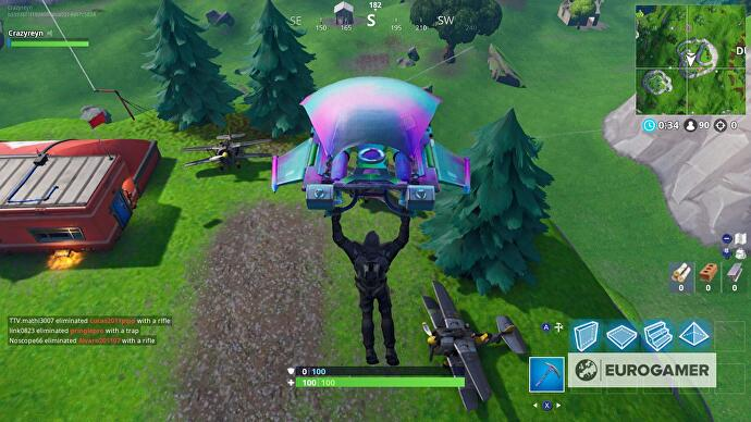 Fortnite plane locations, X-4 Stormwing plane controls and
