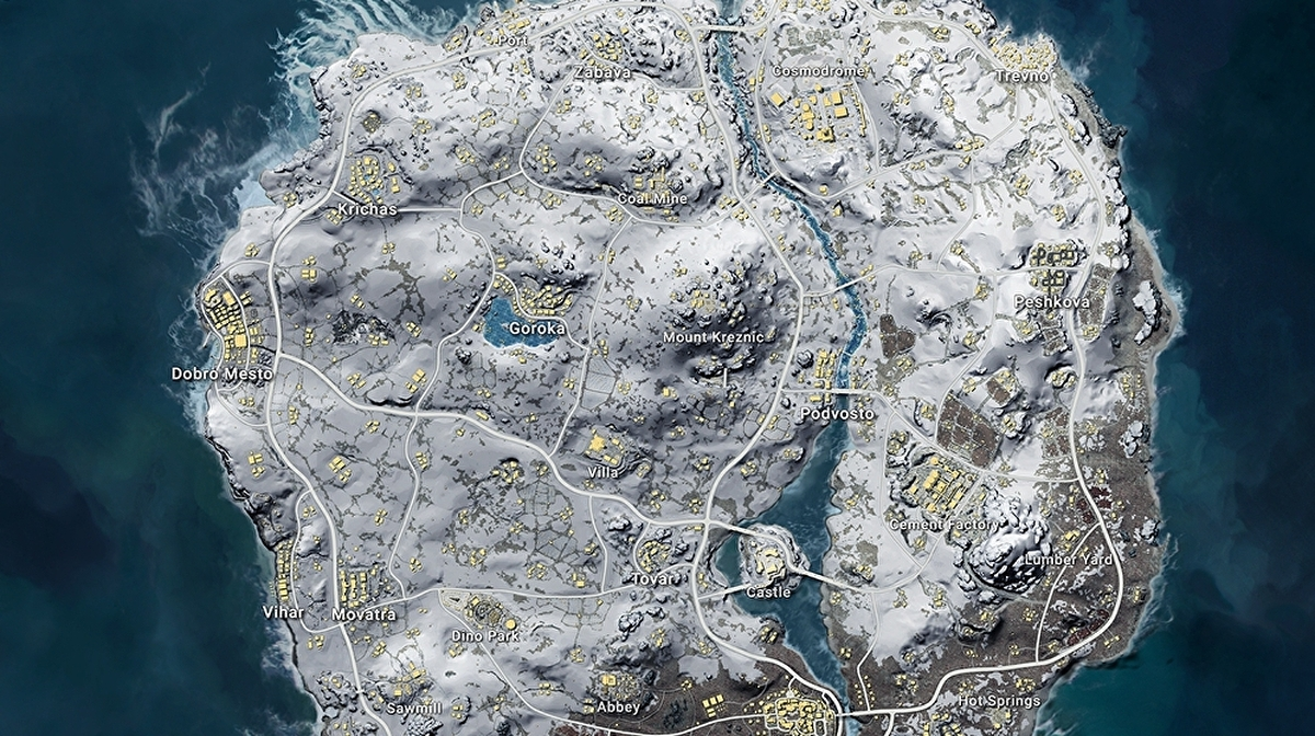 Pubg Vikendi Map Vehicles Size Best Start Locations And Snow Map Strategies Eurogamer Net