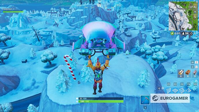 "fortnite_giant_candy_cane_locations_4 ""data-uri ="" 2018 / articles / 2018-12-20-14 -47 / fortnite_giant_candy_cane_locations_4.jpg ""/> </figure> <p><strong>  Shifty Shafts </strong> on the hill to the southwest: </p> <div class="