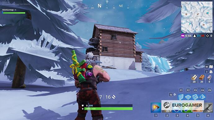Fortnite Ski Lodges location - how to search between three Ski