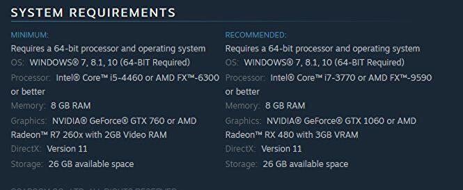 RE2SteamRequirements