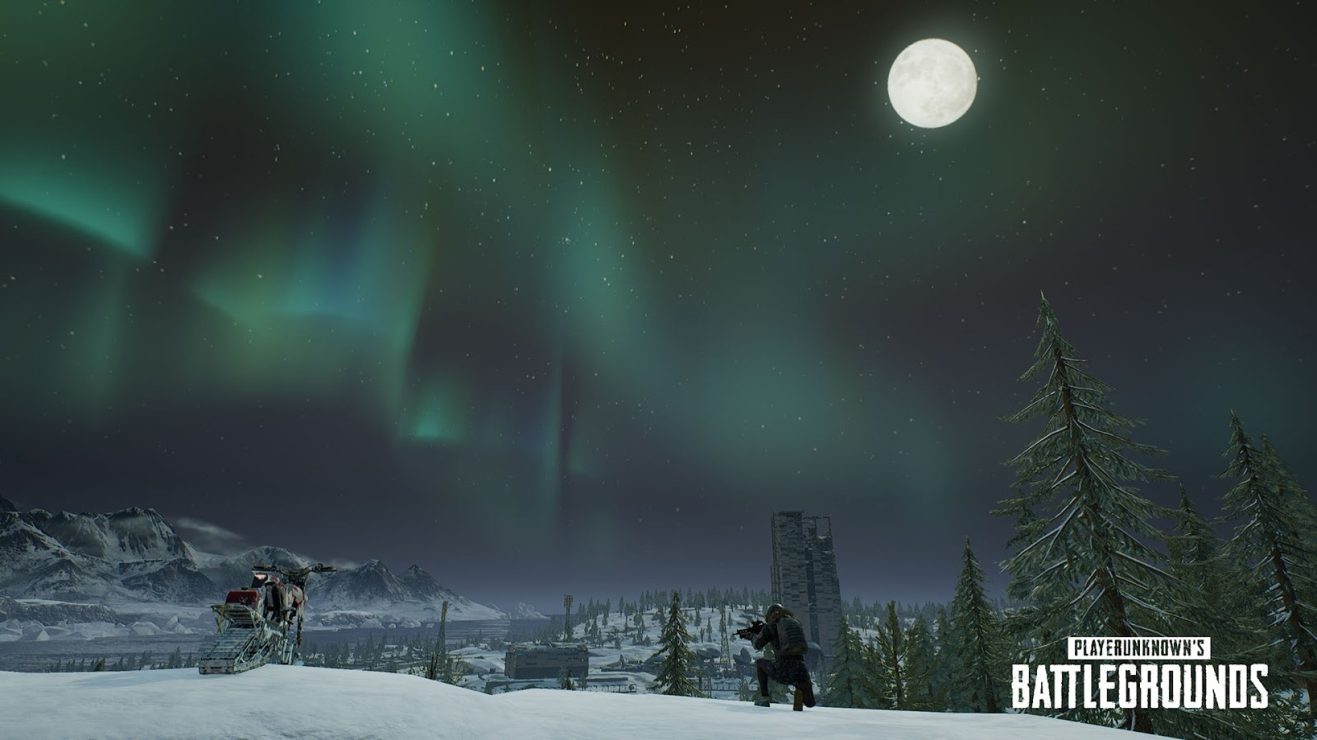 Pubg Wallpaper Anime Hd: PUBG Adds Snowbikes, Canted Sights And Northern Lights On