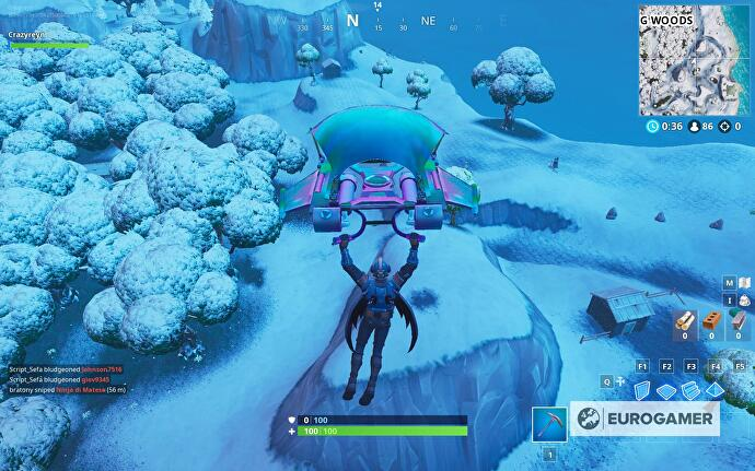 Fortnite Mysterious Hatch Giant Rock Lady And A Precarious Flatbed