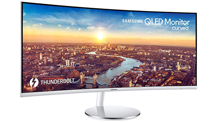 "samsung ""data -2019 / articles / 2019-01-25-15-33 / samsung.jpg"" /> </figure> <p>     <strong> 3440×1440 ● 100Hz ● 48-100Hz VRR range ● HDMI VRR Xbox One support <br /> Buy from Amazon .co.uk for £ 721 ● Buy from Amazon.com for $ 799 </strong><br />   </p> <p> This Samsung VA-panel monitor boasts excellent contrast, flawless 48-100Hz FreeSync support on Nvidia graphics cards and very low input lag of 6ms. That's a big improvement over the 23ms of lag reported on its predecessor, the CF791, which also exhibited flickering with Nvidia graphics cards. The 3440 x 1440 resolution is impressive too, with enough detail to justify the 34-inch span but not enough to require an incredibly high-end PC. Finally, the C34J791 also includes Thunderbolt 3 USB-C, so you can connect a laptop to the monitor while charging it with a single cable. All in all, a convincing modern ultra-wide, and one of the few we've seen to play nicely with Nvidia graphics cards. </p> </section> <section class="